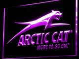 Arctic Cat Snowmobiles Logo LED Sign - Purple - TheLedHeroes