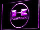 Kawasaki Racing Motorcylce LED Sign - Purple - TheLedHeroes