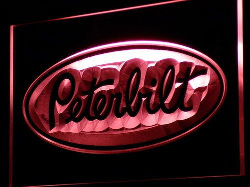 Peterbilt Trucks LED Sign - Red - TheLedHeroes