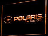 FREE Polaris Snowmobile LED Sign - Orange - TheLedHeroes