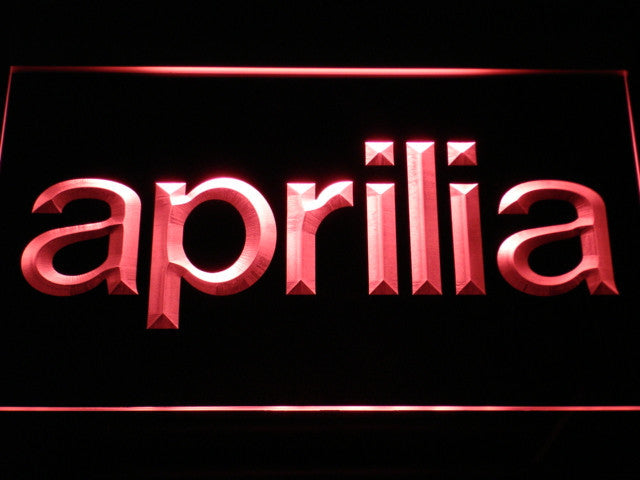 Aprilia LED Sign - Red - TheLedHeroes