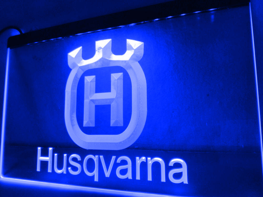 Husqvarna LED Sign - Blue - TheLedHeroes