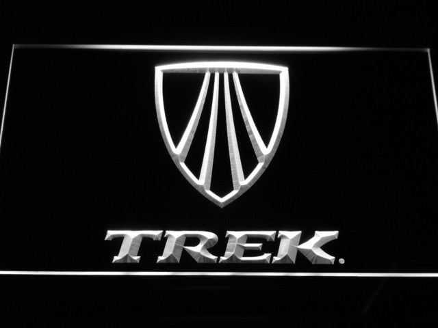 Trek Bike Bicycle LED Sign - White - TheLedHeroes