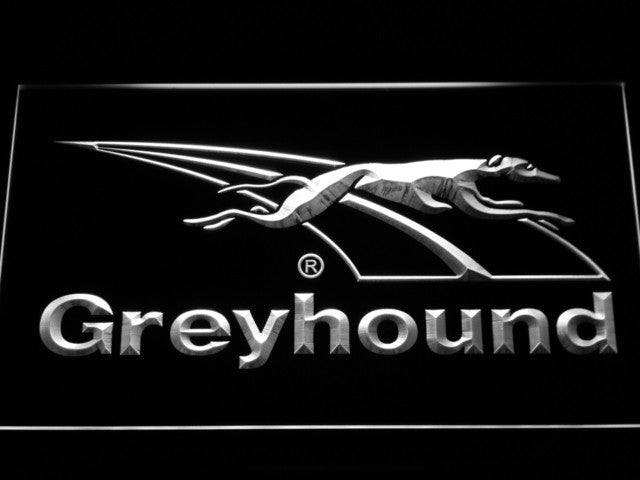 Greyhound Dog LED Sign - White - TheLedHeroes
