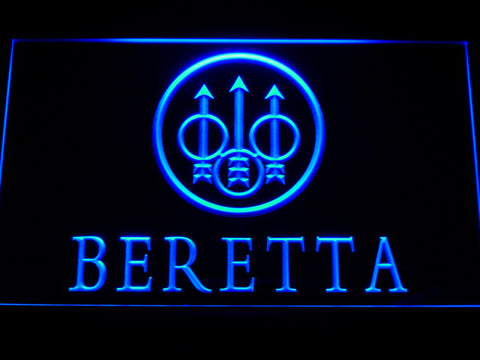 FREE Beretta Firearms LED Sign - Blue - TheLedHeroes