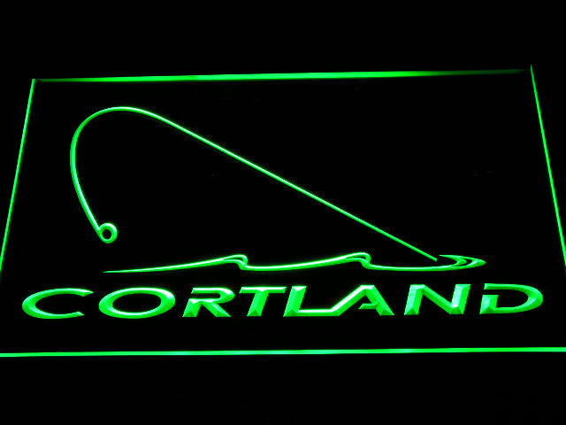 Cortland Fishing Logo LED Sign - Green - TheLedHeroes