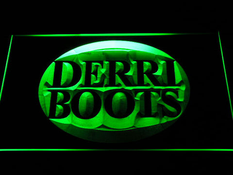Derri Boots Fihsing Logo LED Sign - Green - TheLedHeroes