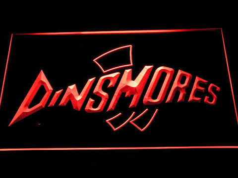 Dinsmores Fishing Logo LED Sign - Red - TheLedHeroes