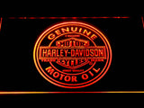 Harley Davidson Motor Oil LED Sign - Orange - TheLedHeroes