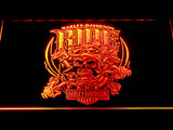 Harley Davidson Ride LED Sign - Orange - TheLedHeroes