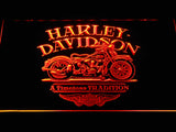 Harley Davidson a Timeless Tradition LED Sign - Orange - TheLedHeroes
