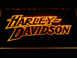 Harley Davidson 2 LED Sign - Orange - TheLedHeroes
