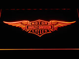 Harley Davidson 3 LED Sign - Orange - TheLedHeroes