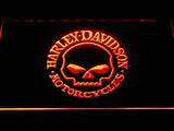 Harley Davidson 4 LED Sign - Orange - TheLedHeroes
