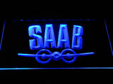 FREE Saab (4) LED Sign - Blue - TheLedHeroes