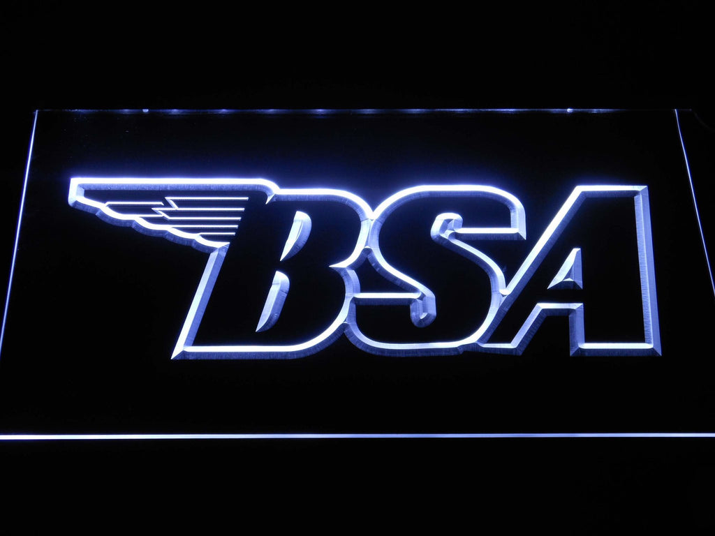 BSA Motorcycles (3) LED Neon Sign Electrical - White - TheLedHeroes