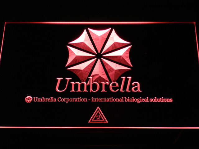 Umbrella Corp Our Business Is Life Itself LED Sign - Red - TheLedHeroes