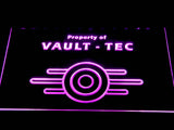 FREE Fallout Vault-Tec LED Sign - Purple - TheLedHeroes