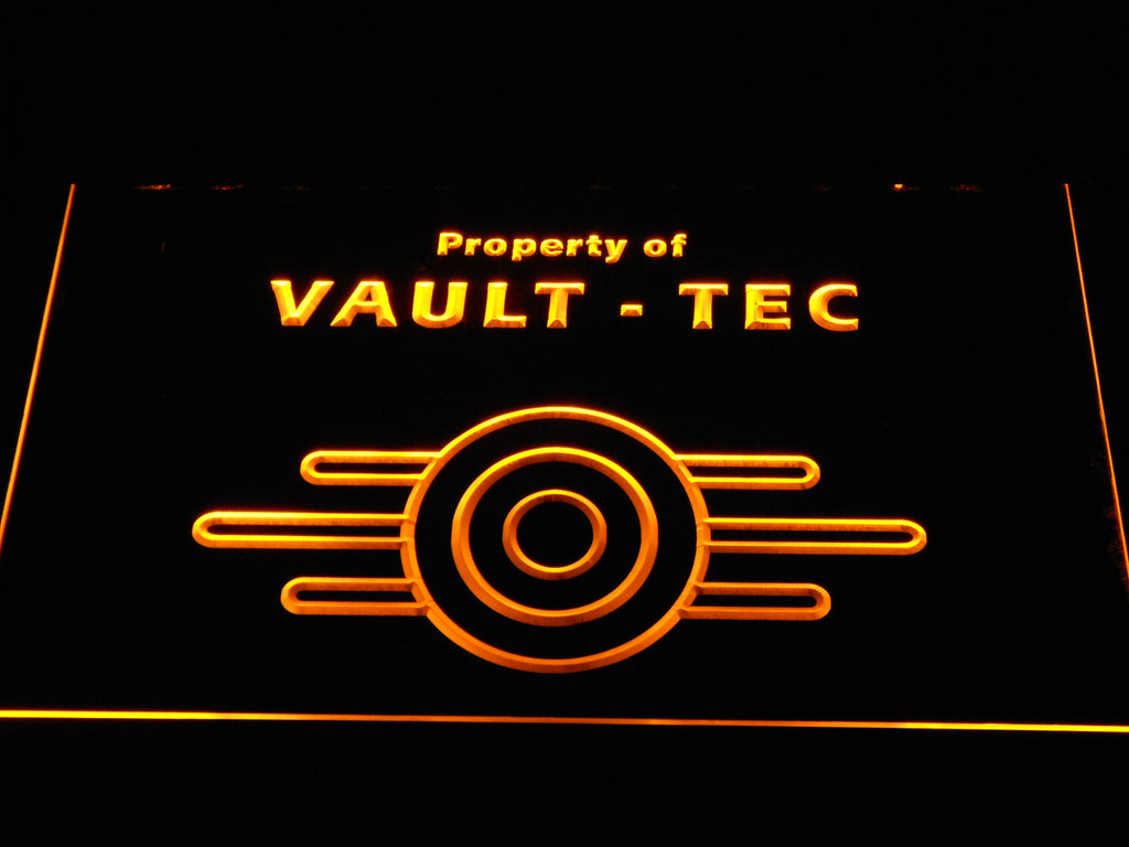 FREE Fallout Vault-Tec LED Sign - Yellow - TheLedHeroes