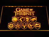 Game of Thrones Familys LED Neon Sign USB - Yellow - TheLedHeroes