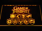 FREE Game of Thrones Familys LED Sign - Yellow - TheLedHeroes