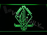 1st Battalion 1st Marines LED Neon Sign USB - Green - TheLedHeroes