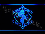 1st Battalion 4th Marines LED Neon Sign USB - Blue - TheLedHeroes