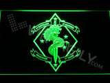 1st Battalion 4th Marines LED Neon Sign USB - Green - TheLedHeroes