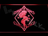 1st Battalion 4th Marines LED Neon Sign USB - Red - TheLedHeroes