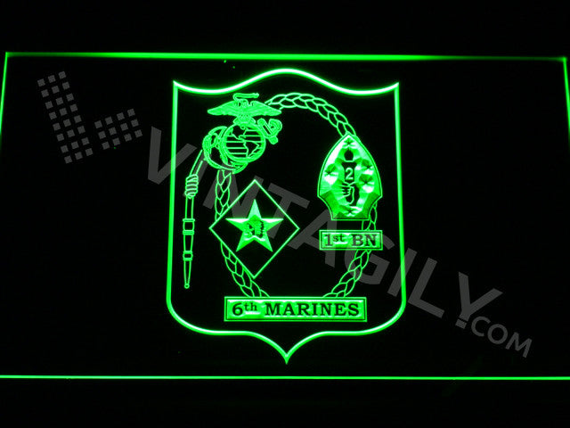 FREE 1st Battalion 6th Marines LED Sign - Green - TheLedHeroes