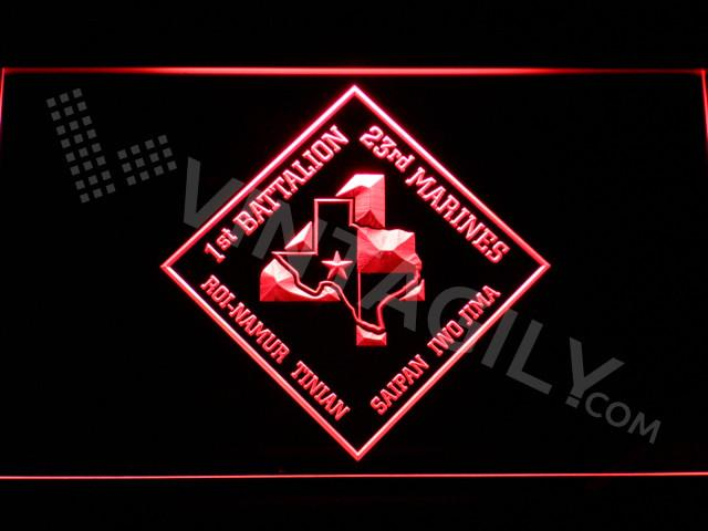 1st Battalion 23rd Marines LED Neon Sign USB - Red - TheLedHeroes