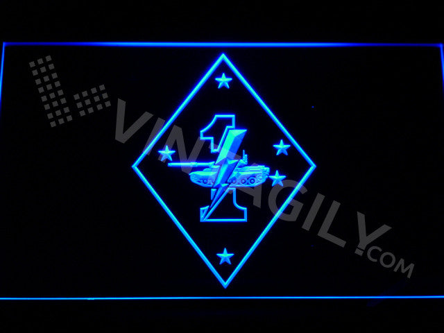 1st Tank Battalion LED Sign