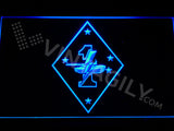 1st Tank Battalion LED Sign - Blue - TheLedHeroes