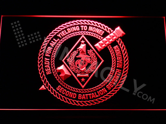 2nd Battalion 7th Marines LED Sign
