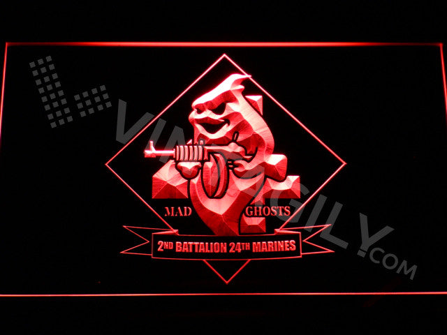 2nd Battalion 24th Marines LED Sign