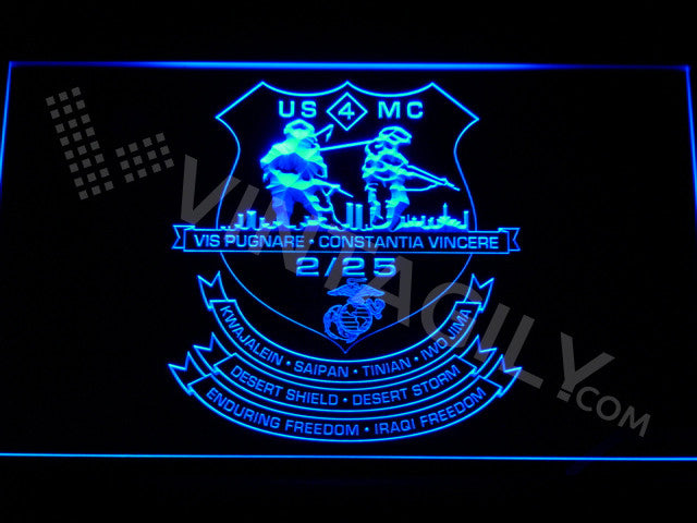 2nd Battalion 25th Marines LED Sign