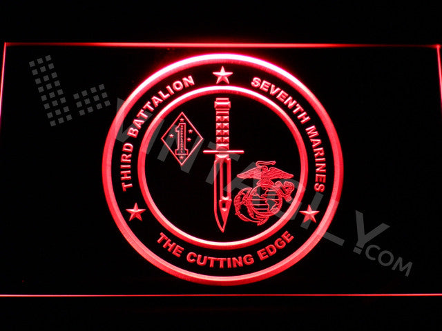 FREE 3rd Battalion 7th Marines LED Sign - Red - TheLedHeroes