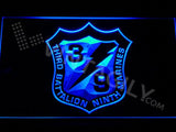 3rd Battalion 9th Marines LED Neon Sign USB - Blue - TheLedHeroes