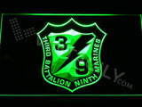 3rd Battalion 9th Marines LED Neon Sign USB - Green - TheLedHeroes