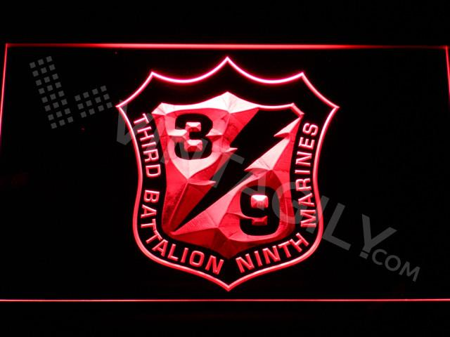 3rd Battalion 9th Marines LED Neon Sign USB - Red - TheLedHeroes