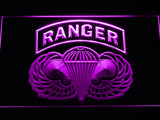FREE US Army Ranger Parawings LED Sign - Purple - TheLedHeroes