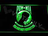 Prisoners Of War - Missing In Action (POW-MIA) LED Sign - Green - TheLedHeroes