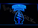 Special Forces Airborne LED Sign - Blue - TheLedHeroes