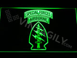 Special Forces Airborne LED Sign - Green - TheLedHeroes