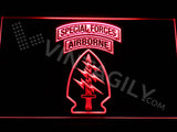 Special Forces Airborne LED Sign - Red - TheLedHeroes
