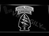Special Forces Airborne LED Sign - White - TheLedHeroes