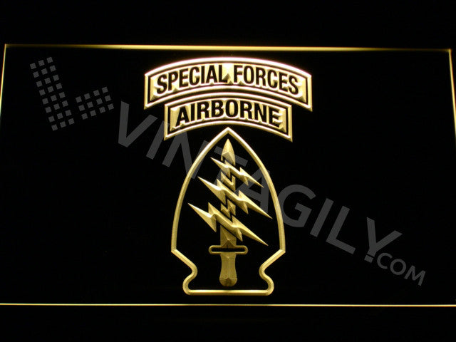 Special Forces Airborne LED Sign - Yellow - TheLedHeroes