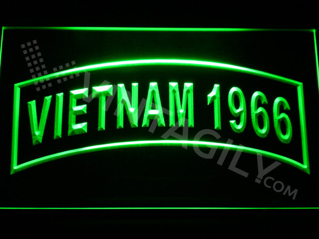 FREE Vietnam 1966 LED Sign - Green - TheLedHeroes