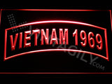 FREE Vietnam 1969 LED Sign - Red - TheLedHeroes