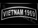 FREE Vietnam 1969 LED Sign - White - TheLedHeroes